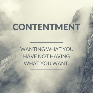 Find more contentment