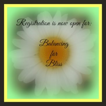 Balancing for Bliss- now open for registration