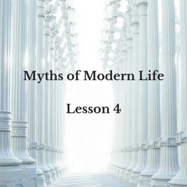 "Myth of Modern Life 4 – If I don't keep up with what I'm ""supposed"" to, I will fall behind or miss something ""important."""